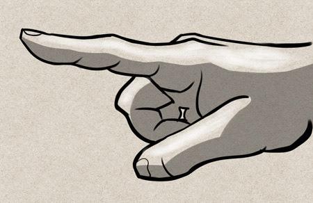 doigt tendu